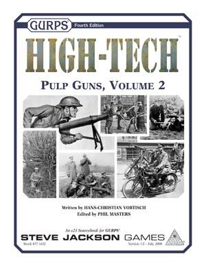 GURPS High-Tech: Pulp Guns, Volume 2